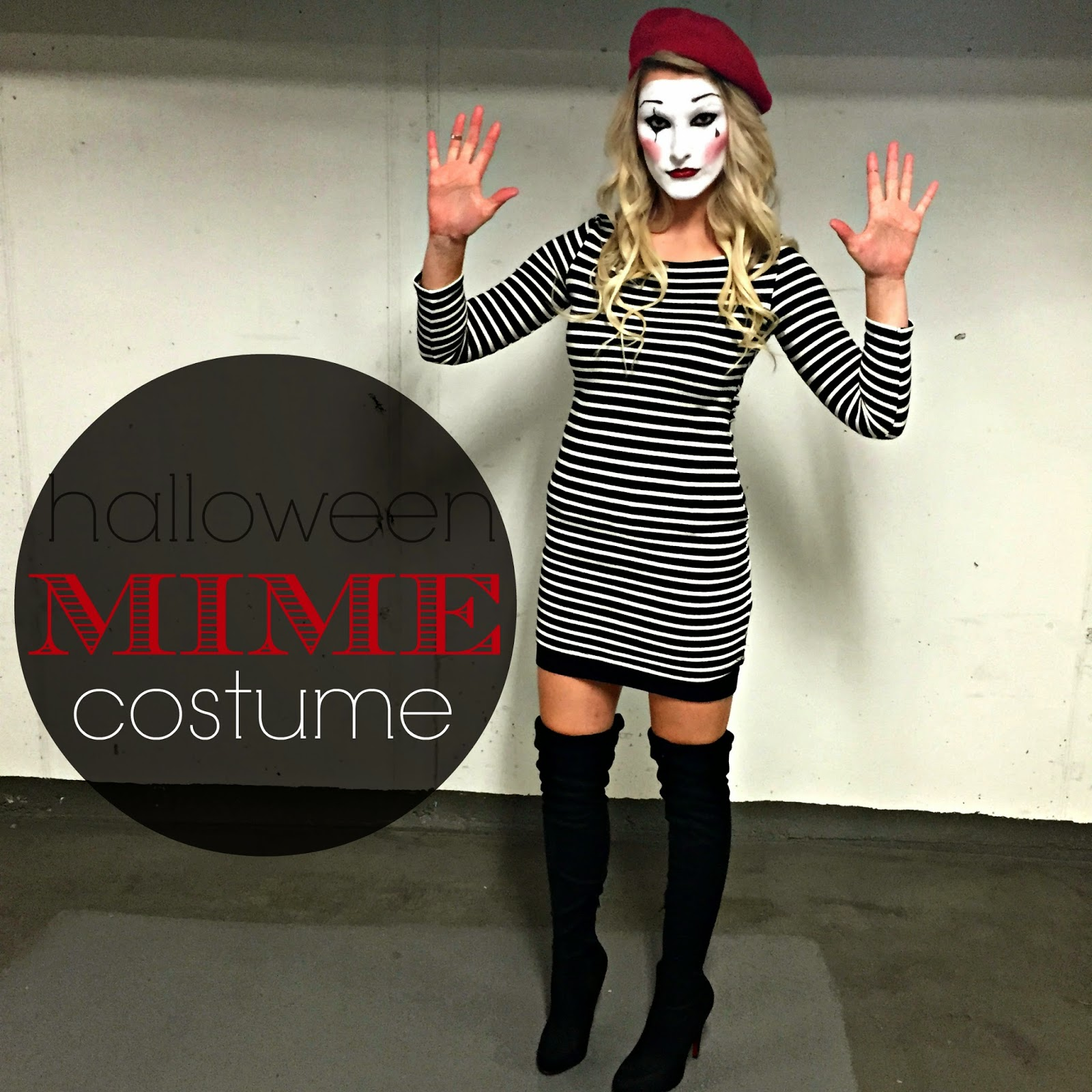 click to see how i pulled these costumes together - Mime For Halloween