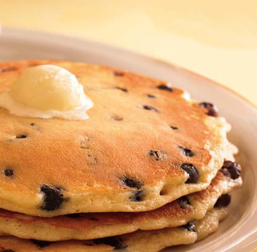 Tasty #Blueberry in Pancakes. Click For More Pancake Ideas