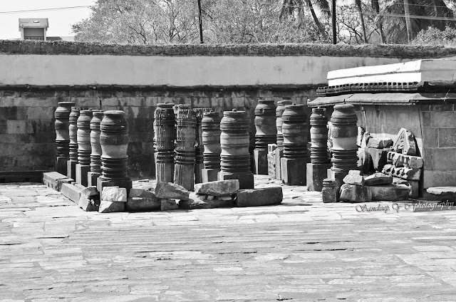 Remains of some temple kept inbetween Veera Narayana and Andal temples