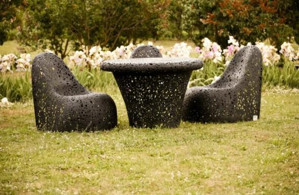 Muebles para exterior con un diseño único | Colección Basalt Fiber