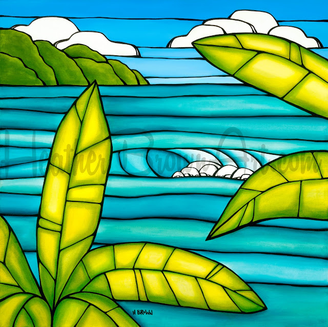 tropical beach art