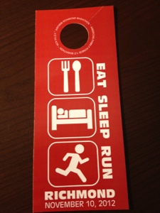 Richmond Marathon Door Hanger