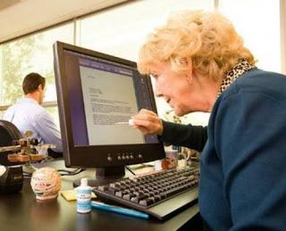 smešne slike baba i računar