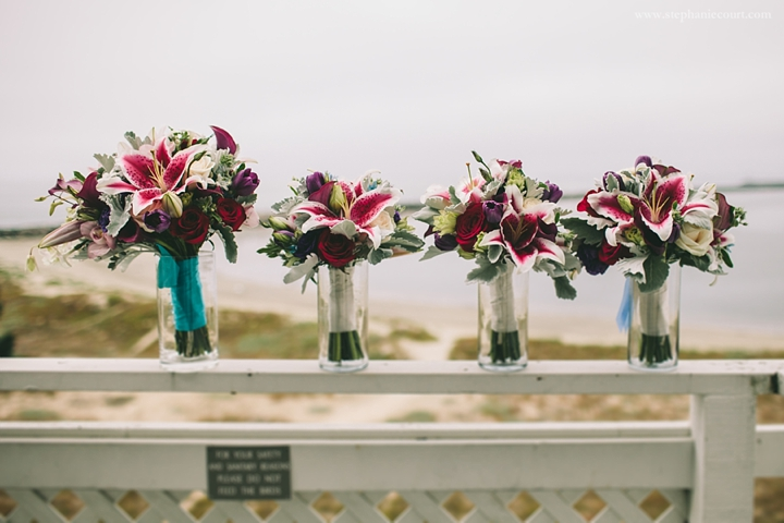 """""""fuschia and teal bridal bouquet"""""""