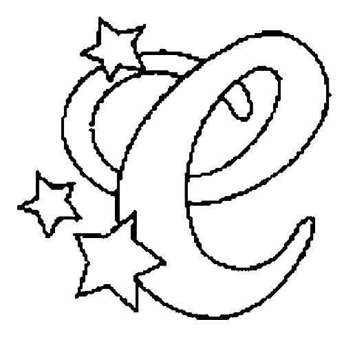 Desenhos Para Colori letras do alfabeto letra C desenhar