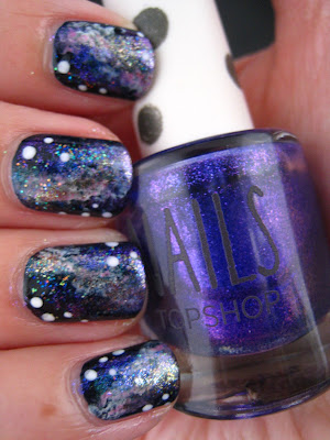 Galaxy-nails-blue-pink-white-gold-glitter-nail-art