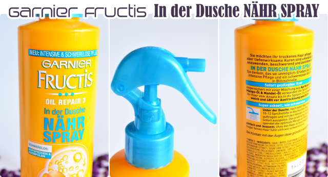 Review Garnier Fructis Oil Repair 3 IN DER DUSCHE NÄHR SPRAY