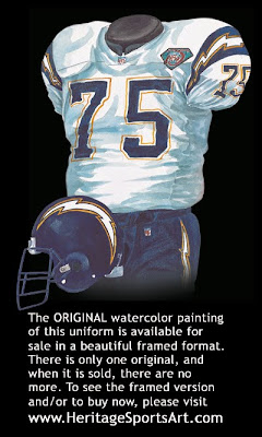 San Diego Chargers 1994 road uniform