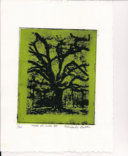 Tree of Life III - waterless lithograph by Kimberly Ruth Edwards