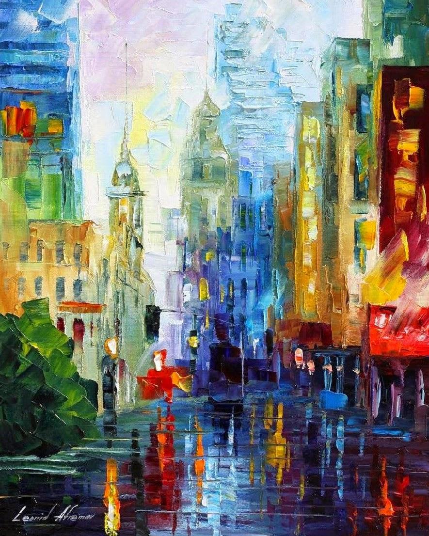 cuadros-abstractos-de-ciudades-al-oleo