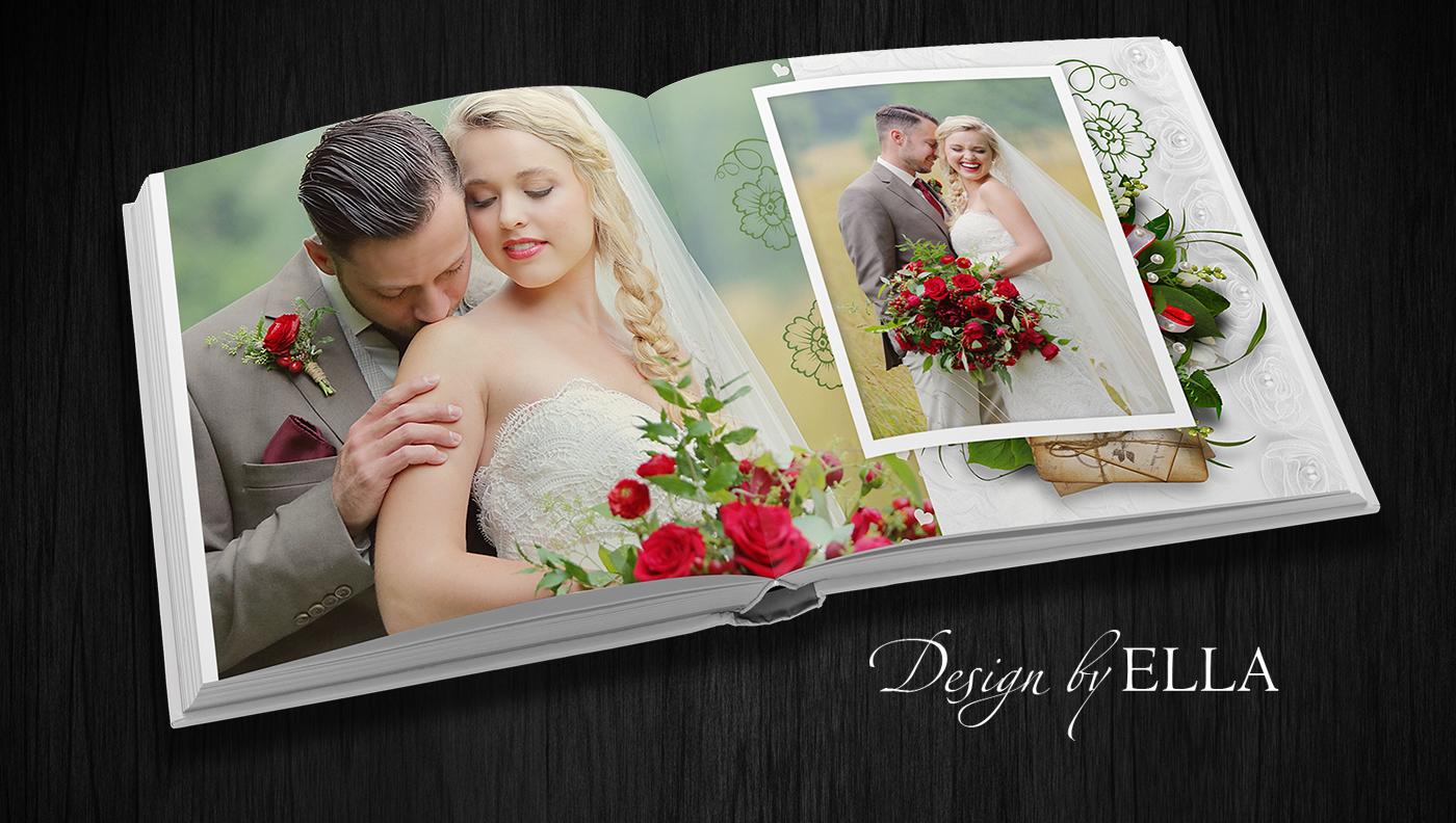 Скачать шаблон для свадебной фотокниги