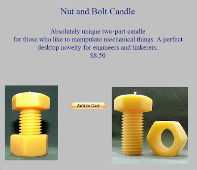 nut and bolt candles