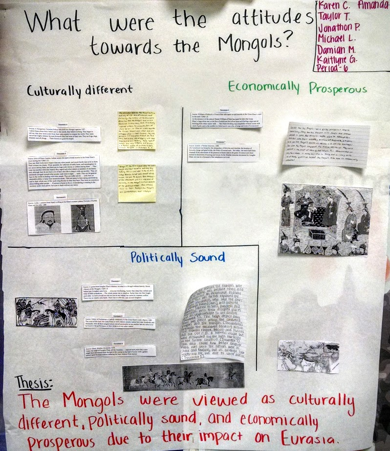 ap world dbq on mongols Document-based question: the mongol terror, mongol peace the following question is based on the accompanying documents (1-6) in the whole world there are to be found no more obedient subjects than the tartars [mongols.