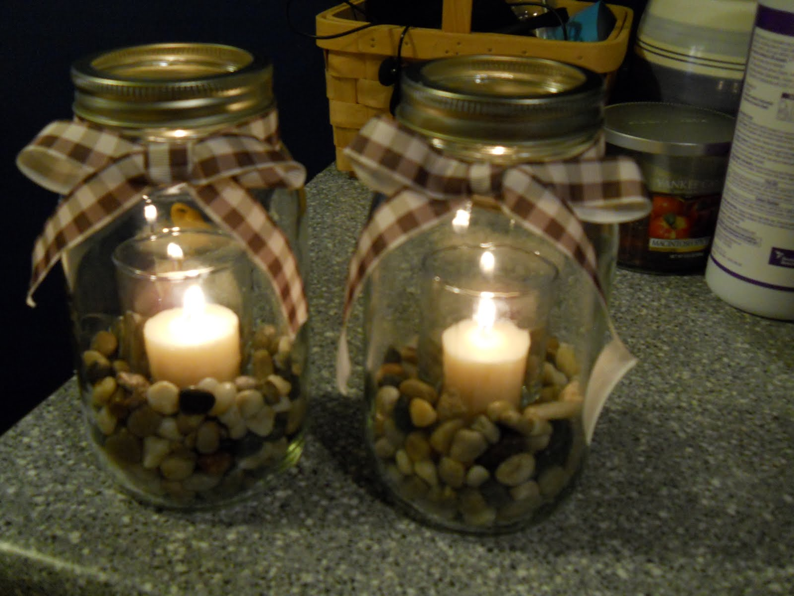 Mason Jar Candle Holders Life Love Laughter Getting Crafty Mason Jar Candle Holders