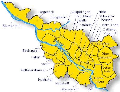 Bremen Mapa de Ciudades