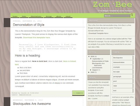 Zom Bee Press Blogger Theme