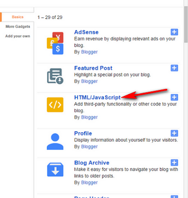 HTML dan Javascript Blogger