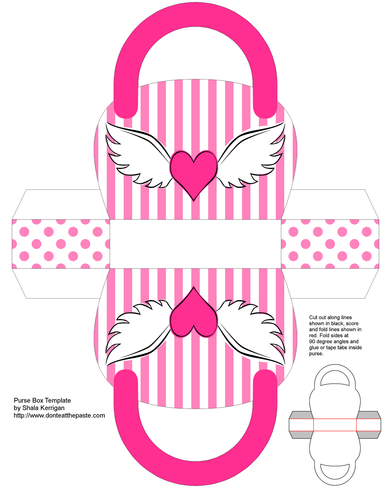 Don\'t Eat the Paste: Winged Heart Purse Box