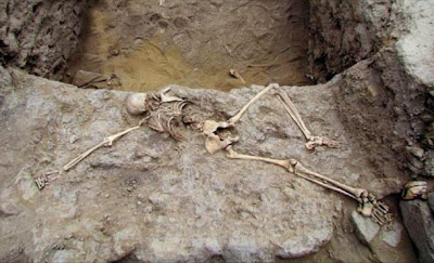 Remains of sacrificed woman found in north Peru