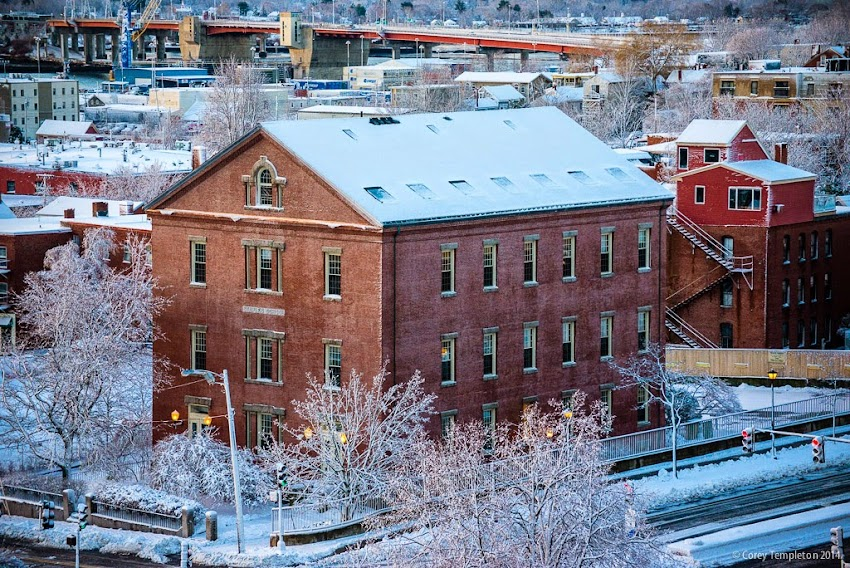 Portland, Maine Old Staples School 70-74 Center Street near Gorham's Corner photo by Corey Templeton November 2014