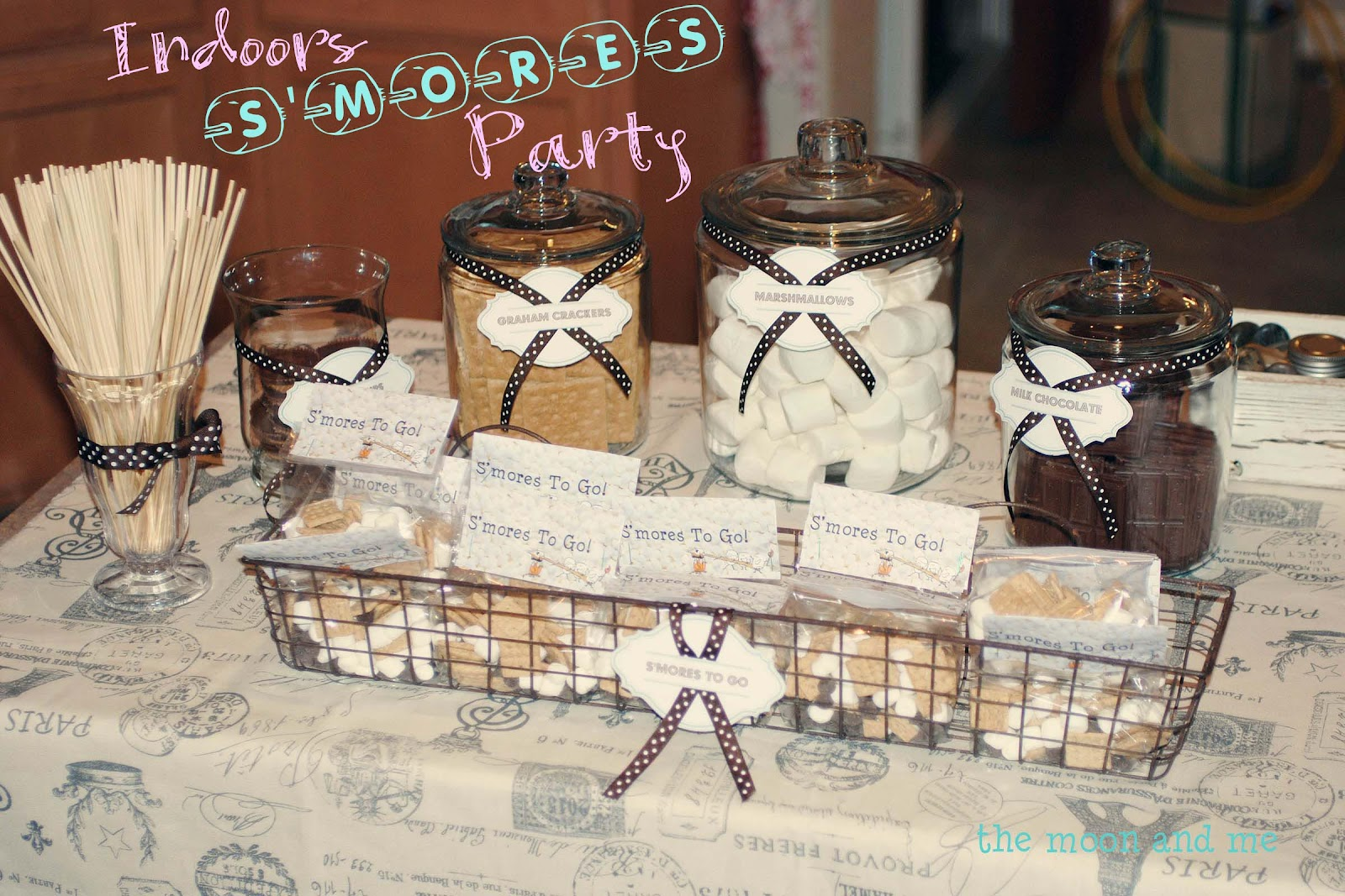 The Moon and Me: Indoors S'mores Party