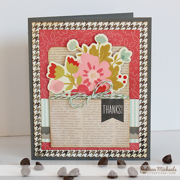 Pebbles Front Porch Thank You Card by Juliana Michaels