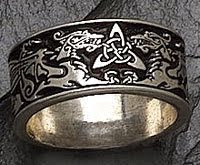 Sterling Silver Celtic Dragon's Ring