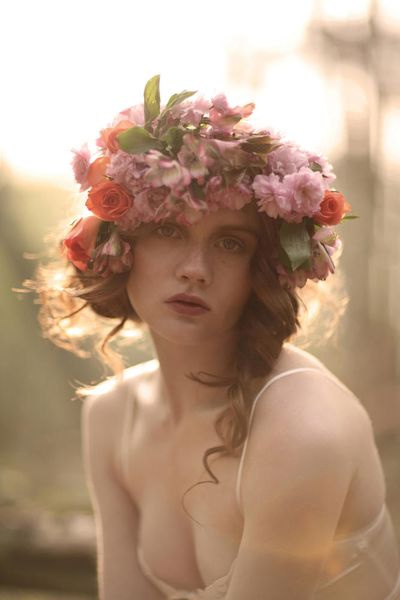 Soft beautiful pastel photography of Floral Crowns