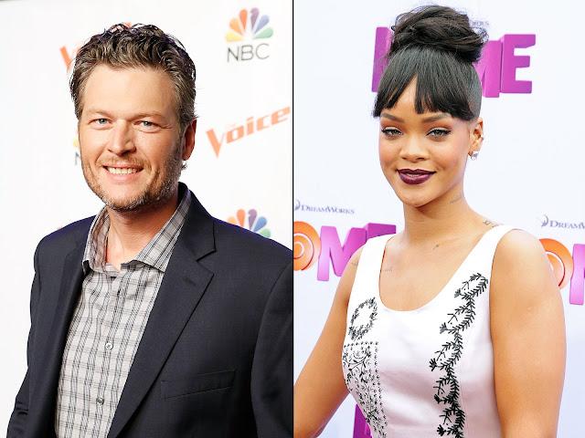 """""""Rihanna y yo probablemente vamos a terminar haciendo alguna cosa juntos"""", dice Blake Shelton."""