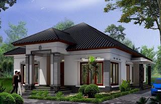 Desain Rumah Mewah 1 Lantai Minimalis 4 Kamar Sederhana