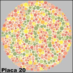 Teste de Ishihara - Placa número 20