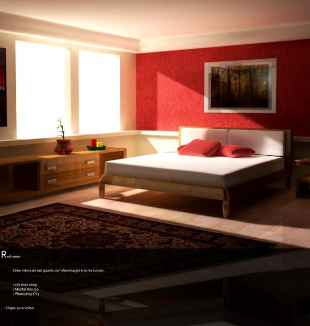 Décoration Chambre Ado Moderne : chambres a coucher rouges