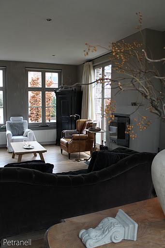 Voorbeelden Muurverf Woonkamer : Woonkamer taupe grijs kleur tinten ...