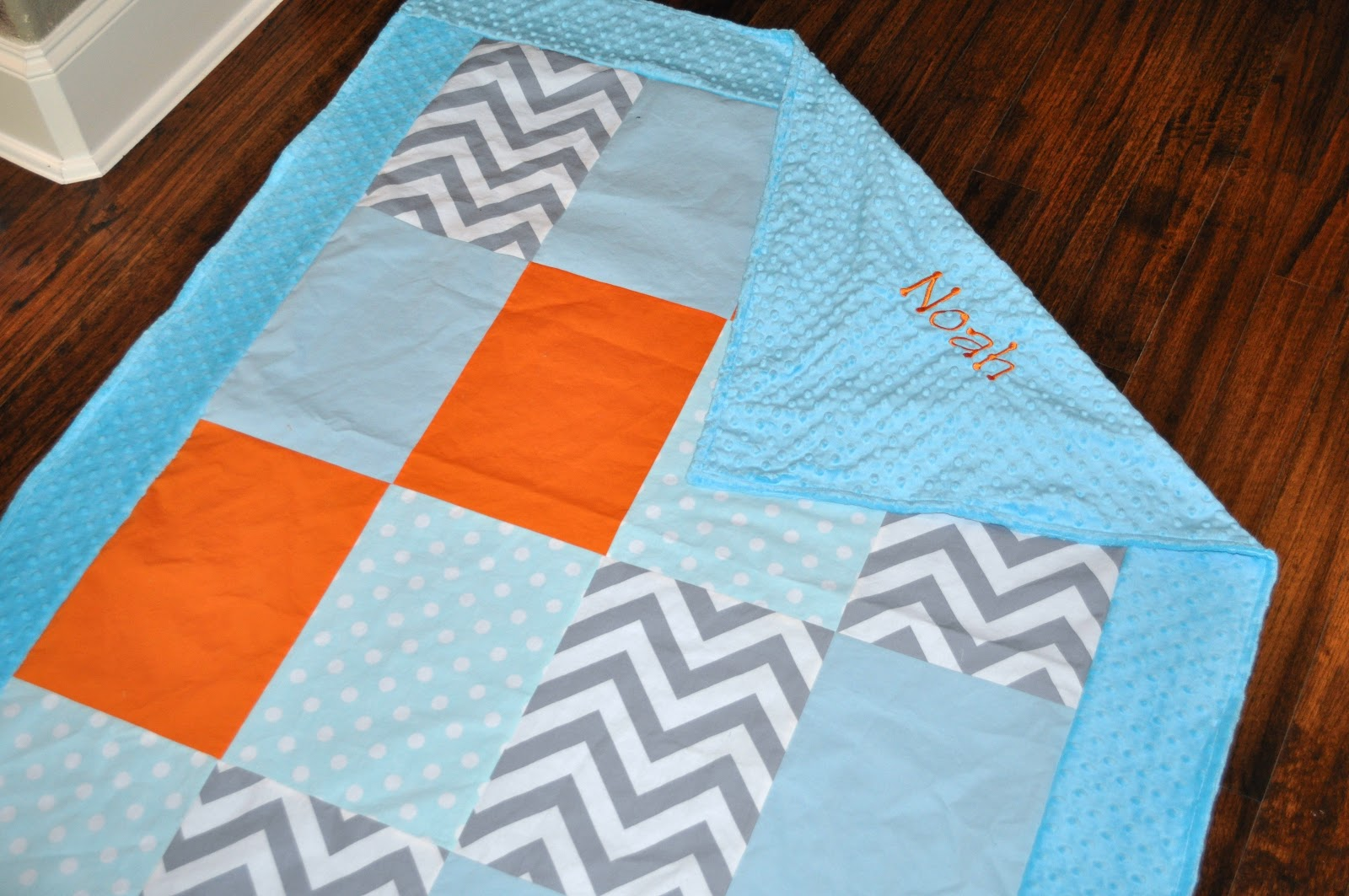 Precious and prosperous designs grey chevron orange and - Orange and light blue bedroom ...