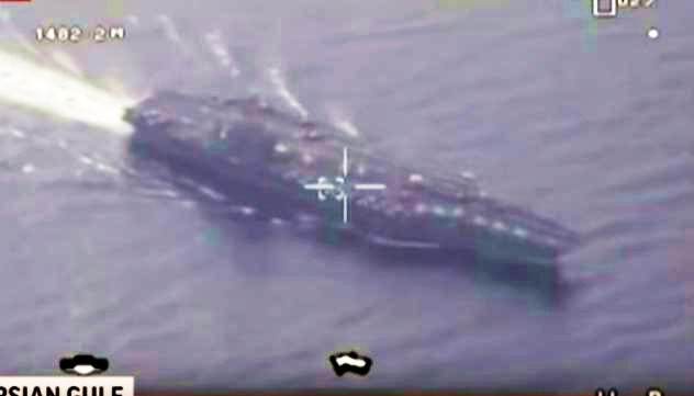 Un avión no tripulado de vigilancia, perteneciente a las Fuerzas Armadas de Irán sobrevoló un portaaviones de la Armada de los Estados Unidos (US Navy) en el estrecho de Hormuz ubicado en aguas del Golfo Pérsico.