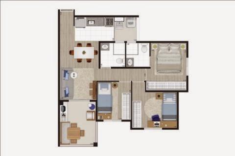 planta apartamento barra funda