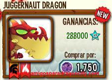 imagen del dragon juggernaut en almacen de dragon city