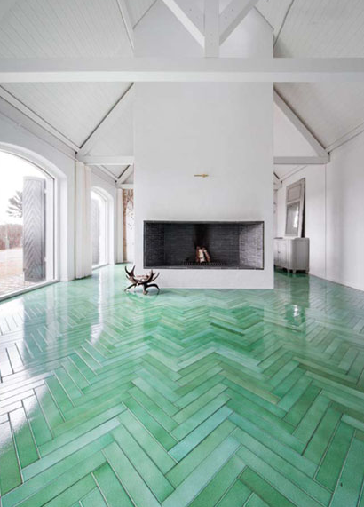 Made_A_Mano_Tile amazing green floor