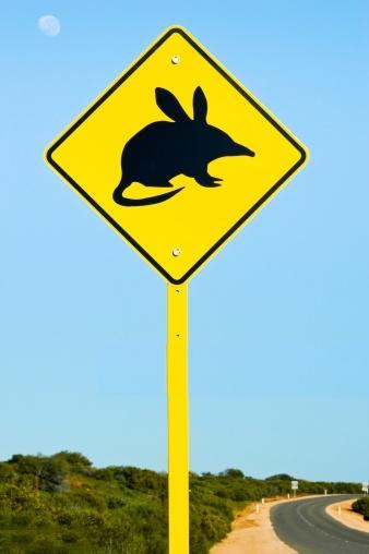 Monstre des antipodes Bilby_australia_sign