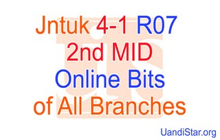 Jntuk 4-1 2nd MID Online Bits of All Branches ECE, EEE, EIE, ECM, CSE, IT, Mechanical... (2012)