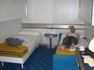 Cabin on ferry to Corsica