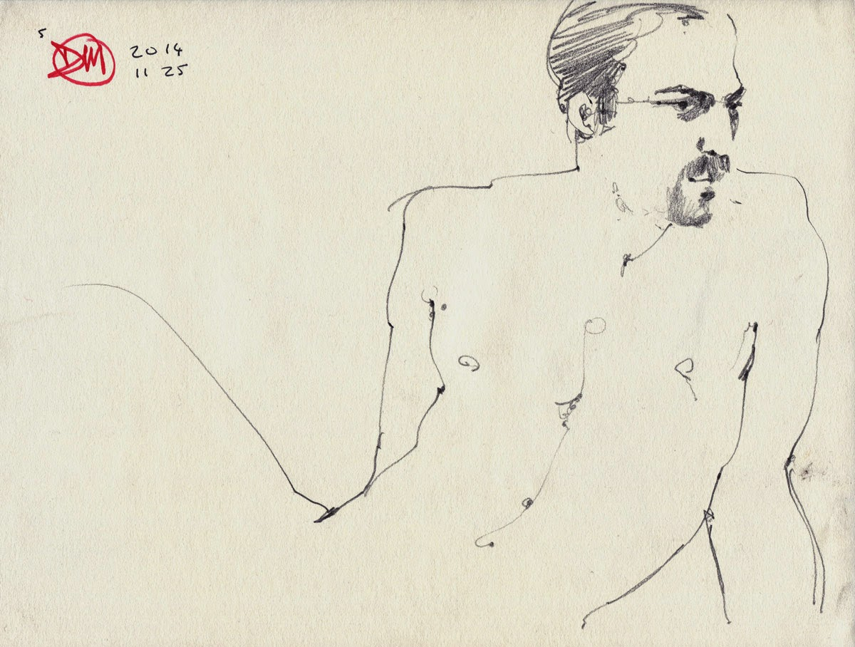 Male nude by David Meldrum
