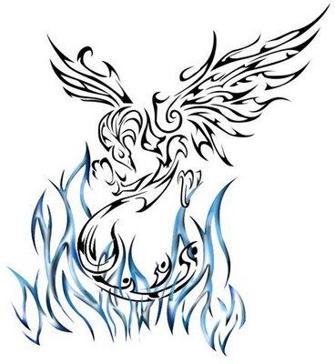 Pin Tattoovorlagen Tribal Phnix Lilzeu Tattoo De on Pinterest