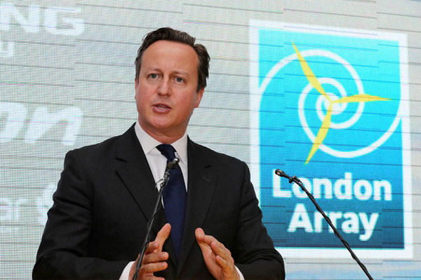 Prime Minister David Cameron at the London Array launch