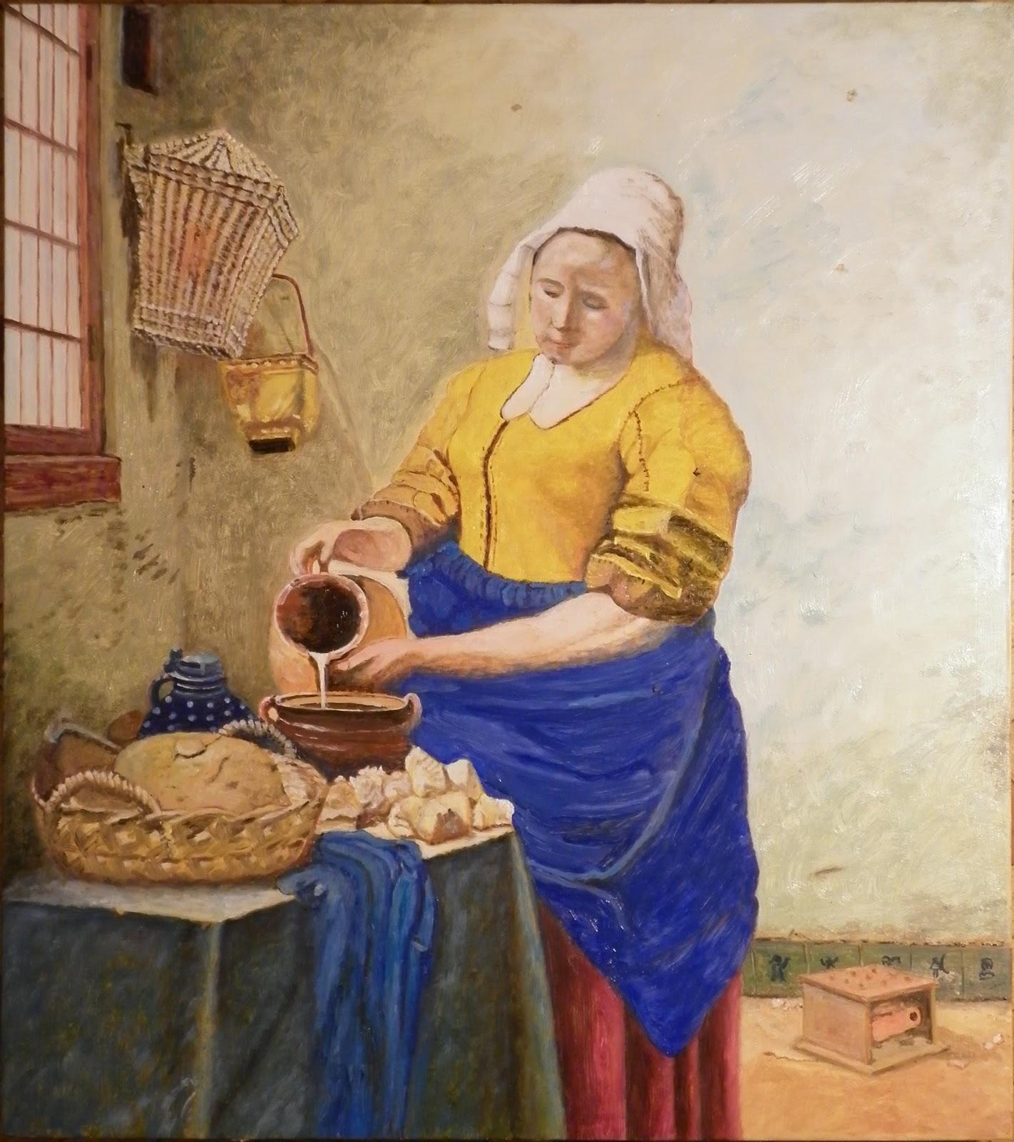 Mi hobby la pintura marzo 2012 - La lechera de vermeer ...