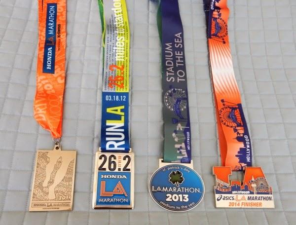 LA Marathon finisher medals