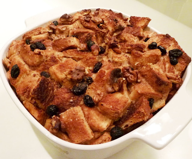 My Personal Food Journal: Bread Pudding with Custard Sauce