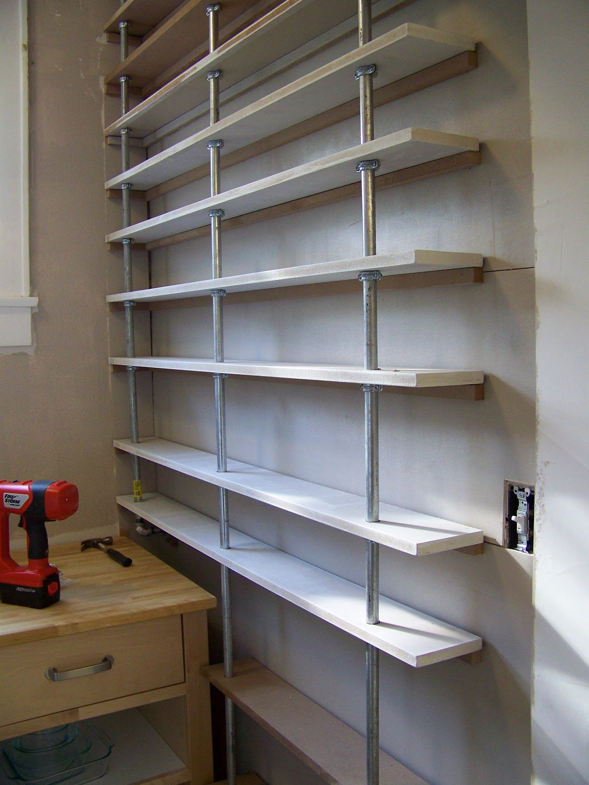 Seesaws And Sawhorses Pantry Shelves Done
