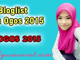 """Saya Nak Masuk Bloglist Lyssa Faizureen Bulan Ogos 2015"""