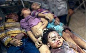 LOS BOMBARDEOS ISRAELÍES SOBRE GAZA SE CEBAN EN LOS NIÑOS.